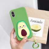 New Product Custom Silicone Mobile Phone Case Cover for iPhone Xs Xr X 6 7 8 Plus Avocado Protection Cell Phone Case