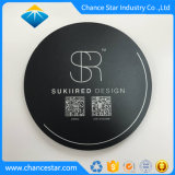 Custom Logo Printed Hard Surface Plastic Round Mouse Pad with EVA Back