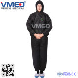 2019 Most Popular Black Disposable Protective Goverall, Disposable SMS Industry/ Laboratory Safety Coverall, Work Clothes for Industry /Laboratory