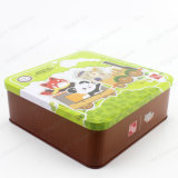 Cartoon Design Moon Cake Chocolate Metal Tin Box for Christmas Home Gifts Packing