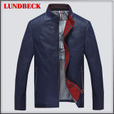 Leisure PU Jacket for Men Fashion Winter Coat