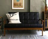 Wooden Leather Sofa with High Quality (M-X3123)