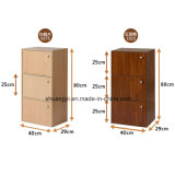 Knock-Down Structure Home Office Use Wooden Storage Book Storage Cabinet