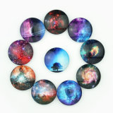 Round Shape Cheap Custom Night-Sky Epoxy Fridge Magnet