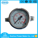 50mm Half Stainless Steel Back Thread Type Liquid Filled Pressure Gauge with Rhombic Clamp