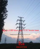Megatro 110kv Transmission Line Drum Type Std DC Tension Tower