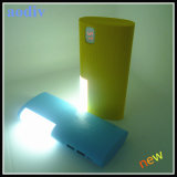 High Capacity Dual USB Power Bank with Lamp 8800mAh