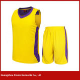 Custom Short Sleeve Quick Dry Yellow Sport Wear for Football Team (T23)
