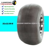 Smooth Tyre ATV Wheel 21X12.00-8 with Metal or Plastic Rim