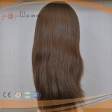 Top Quality Pure #8 Color Silk Top Virgin Hair Wig