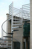 Safety Outside Steel/Stainless Steel Spiral Staircase with Diamond Staircase Tread