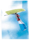 Spray Window Squeegee with Spray Bottom Soap Dispensor
