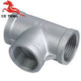 Equal Banded Galvanized Malleable Iron Pipe Fitting Tee Stainless Steel