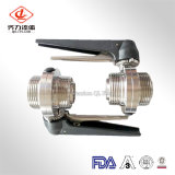 Sanitary Stainless Steel Male/Male End Rjt Butterfly Valve