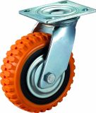 4/5/6/8 Inch Heavy Duty Tyre Veins PU Swivel Caster Wheel