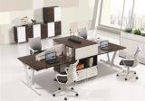 Modern Melamine Staff Metal Veneer Manager Computer Office Table