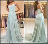 Mini Green Party Prom Dresses Beaded Appliqued Long Bridesmaid Evening Dress EV456