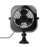Car/Vehicle and Desk Fan Portable Powerful and Quiet USB Fan with Suction Cup Angle Adjustable Black with 2 Speeds for Automobile Home Office High Compat