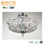American Popular Style Tiffany Colorful Crystal Chandelier Pendant Hanging Light LED Lamp
