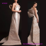 Strapless Wedding Dress with Big Bow on Back