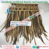 Artificial Thatch Synthetic Thatch Plastic Palm Tree Leave Thatch Roofing Tiles 4