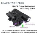 Mil-Std Multifunctional Laser Aiming System of Ipx8 Weapon Tactical Rifle 280 Lumens LED Flashlight IR Laser IR Illuminator Green Laser Collimator Sight 4 in 1