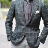 Latest Design Plaid Business Men Suits Coat