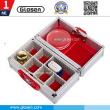 Portable Metal Office Stamp Storage Box with Lock