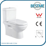 Two Piece Ceramic Toilet with Quick Releases Seat Cover