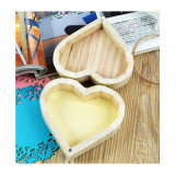 Crafts Toys Love Heart Shape Wooden Jewelry Box