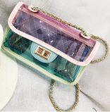 Ladies Elegent Handbag PVC Colorful Summer Handbag Korea Style Handbag