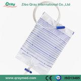 Medical Disposable Economic Urine Bag with T Valve