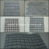 Zhangpu Black Basalt Paving Stone-Cobble Stone/Cube Stone on Mesh