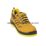 Sports Style Nubuck Leather & Oxford Fabric Safety Shoes (HQ08003)