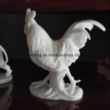 Life-Size Granite Cock Statue Marble Animal Rooster Sculpture for Decoration