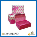 Wave Point Pink Paper Gift Box for Packaging (GJ-Box128)
