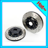 Painted Drilled Slotted Brake Disc Rotor with Dacromet