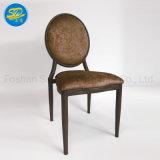 Cheap Wood Grain Imitation Design Metal Dining Furniture Chair