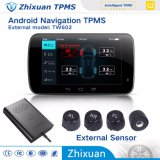 Android TPMS Car Navigation Tire Pressure Monitor System with 4sensor New 2017