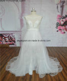 Short See Through Tulle Bridal Wedding Dress