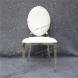Chinese Stackable White Leather Hotel Banquet Wedding Rental Stainless Steel Chair for Event and and Dining Room (YZ-SS133)