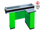 Green Electric Cashier Counter for Supermarket
