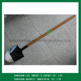 Spade Round Point Long Wood Handle Shovel Spade