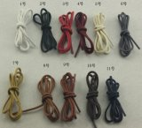 3mm Waxed Cotton Thin Round Shoe Laces Dress Wax Cord Laces