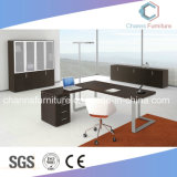 Fashion Metal Frame Manager Office Table with Back Cabinet