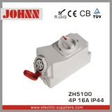 IP44 4p 16A Socket with Switches and Mechanical Interlock for Industrial