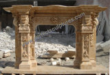 Fireplace with Stone Marble Limestone Sandstone Granite (QY-LS386)