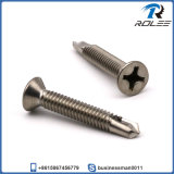 Stainless Steel Philips Flat Self Drilling Screw with Fine Thread