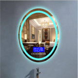 Wall Mounted Round Backlit LED Hotel Fogless Illuminated Magnifying Shaving Mirror