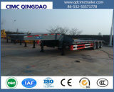 Cimc 3 Axle 80 Tons Excavator Transporter Low Bed Trailer